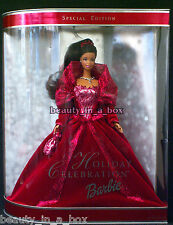 2002 AA Holiday Barbie Doll Celebration African American Christmas NFRB