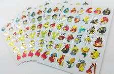 180x Cool Angry Birds Cartoon Childrens Kids Stickers fun shiny pvc play lot