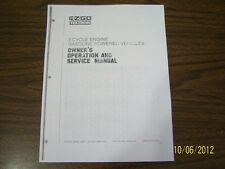 EZGO golf cart repair service manual 1989 - 1993 Gas engines carts on disc NICE