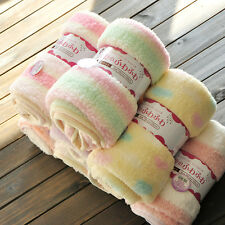 Newborn Baby Soft Fleece Blanket Wrap Shawl Pram Crib Moses Basket Bed Cot Hot