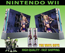 NINTENDO WII STICKER LOLLIPOP CHAINSAW DARK DECAL GRAPHIC SKIN & 2 PAD SKINS