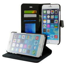 "Prodigee Wallegee Black Apple iPhone 6 6s + Plus 5.5"" Wallet Leather Case Cover"