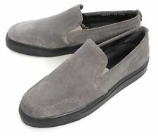 Mens BRIONI Gray Suede Leather Slip-On Loafers Shoes 8 1/2 EU / 9 1/2 US NIB