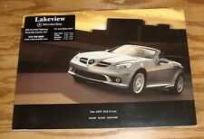 Original 2007 Mercedes-Benz SLK-Class Sales Brochure 07 280 350 55 AMG