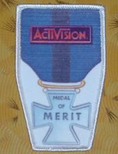 ~Atari 2600 VCS Vintage 80's Activision Patch - Robot Tank Medal of Merit ~