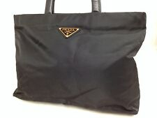 AUTHENTIC PRADA BLACK NYLON HAND BAG  5i290P70p