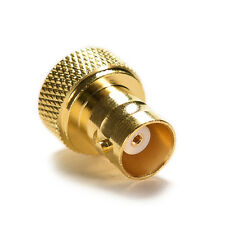 BNC female jack to SMA male plug RF connector straight gold plating Adapter CW