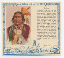 Red Man Chewing Tobacco - Striker - American Indian Chiefs card #17 T-129