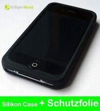 iPhone 4S 4 4G Silikon Hülle Tasche Cover Case Schutzhülle Schutz Schale Schwarz