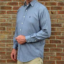 Ralph Lauren Blake Golf Long Sleeve Shirt Button Medium Black White Houndstooth