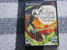 TIM BURTONS THE NIGHTMARE BEFORE CHRISTMAS OOGIES REVENGE PS2 BK LABEL COMPLETE