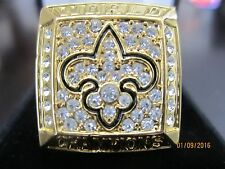2009 New Orleans Saints Drew Brees Super Bowl Championship Ring Size 11 Football