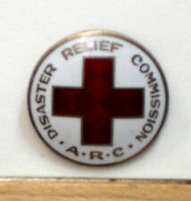 circa 1923 RAREST RED CROSS pin- DISASTER RELIEF COMMISSION- RAREST ARC Pin!!