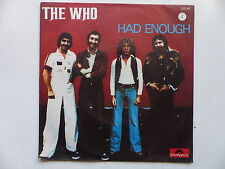 45 Tours THE WHO Had enough , who are you 2121361