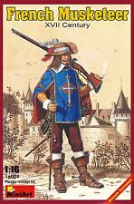 MiniArt #16009, Scale 1/16, French musketeer, XVII century