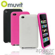 GENUINE MUVIT APPLE IPOD TOUCH 3 COLOURS RUBBER MUCMPRUIPT4G001 PHONE CASE COVER