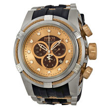 Invicta Bolt Chronograph Brown Dial Stainless Steel Mens Watch 0829