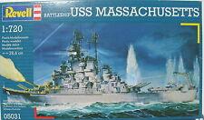 Revell 05031 - Battleship USS MASSACHUSETTS - 1:720 - Schiff Modellbausatz - KIT