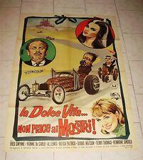 MUNSTER GO HOME italian movie poster 1966 horror Dracula Frankenstein car racing