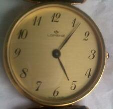 Original Lorenz lady's watch Quartz 28mm Yellow Gold Plated w/leather band NEW !