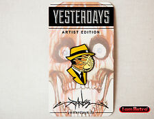 "Dick Tracing 2 Soft Enamel 1.25"" Black Metal Plated Pin Alex Pardee x Yesterdays"