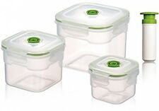 Vacuumsaver Flavia 3 Piece Food Container Set - With Vacuum Pump