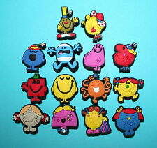 Mr.Men & Little Shoe Charms Cupcake Toppers Cake Loom Band Decorations Miss NEW