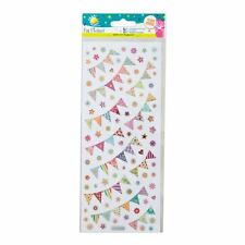 Craft Planet Fun Stickers - Bunting - Wedding, Party - Craft Embellishments