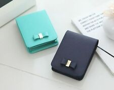 Genuine Leather Cigarette/Tobacco Case/Cigar Pocket Pouch Magnetic Button Navy