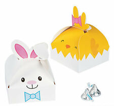 3 Easter Bunny & 3 Yellow Chick Treat Favor Boxes Basket Filler Egg Hunt