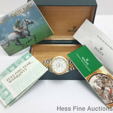 Genuine Rolex Thunderbird Datejust 16263 18k Gold SS Mens Watch Box Papers