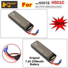 Hubsan X4 H501S FPV 5.8G Brushless Drone 2pcs Original 7.4V 2700mAh Lipo Battery