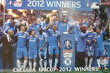 "CHELSEA FC ""FA CUP 2012 WINNERS"" POSTER -Football Team Celebratin​g On The Pitch"