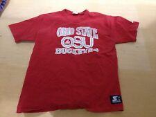 Ohio State University OSU Buckeyes leaf Vintage 1980's Red Starter T Shirt