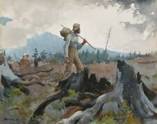 Homer Winslow The Guide And Woodsman Print 11 x 14 #6214