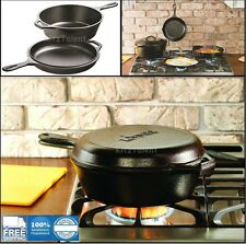 Lodge Cast Iron Skillet Cookware Dutch Oven Pot Pan Pre-Seasoned Cooker Cooking