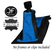 BLUE SUEDE BLACK LEATHER GEAR STICK GAITER FITS VAUXHALL OPEL ASTRA G 1998-2005
