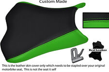GREEN & BLACK CUSTOM 09-12 FITS KAWASAKI NINJA ZX6R ZX6  600 LEATHER SEAT COVER