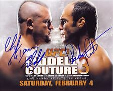 CHUCK LIDDELL & RANDY COUTURE Autographed Signed 8x10 reprint Photo UFC