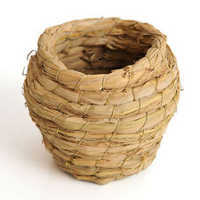 Creative Grass Cave Handwoven Straw Bird Nest House For Parrot Hatching Breed