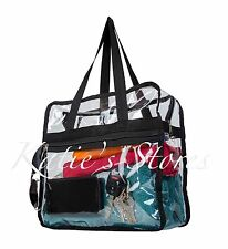 CLEAR NFL TOTE BAG STADIUM APPROVED 12x12x6 Zipper Side Pocket!!!
