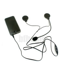 Motorcycle Bike Helmet Speakers + Mic Volume Control Headset For MP3 Phone IPOD
