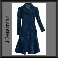 J PETERMAN Paris Frock Coat Darkest Navy Blue 4 NEW