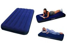 Intex Twin Classic Downy Airbed Mattress Spare Camping Sleepover Portable Bed