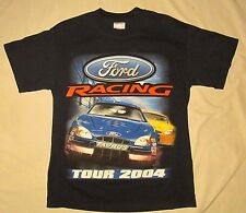 FORD RACING TOUR 2004 Mens T-Shirt NAVY BLUE NASCAR Boy Racing SPEED BUSINESS