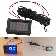 Blue LED DC 12V Digital Thermometer + Sensor Probe -50~110C Temperature Detector