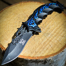 "9"" DRAGON SPRING ASSISTED OPEN Tactical Ninja FOLDING POCKET KNIFE Cosplay"