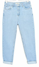 Topshop MOM High Waisted Vintage Blue Stonewashed TAPERED Jeans Size 10 W28 L32