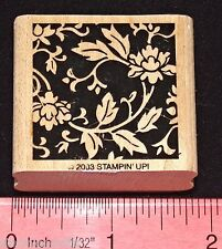 Stampin Up Mostly Flowers Stamp Single Flower Buds with Ivy Vine Stems