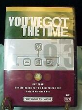 YOU'VE GOT THE TIME LISTEN TO THE NEW TESTAMENT BIBLE 40 DAY PLAN MP3 AUDIO CD